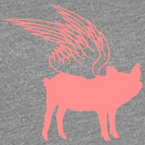 Flying wing pig piglets T-Shirts - Women's Premium T-Shirt