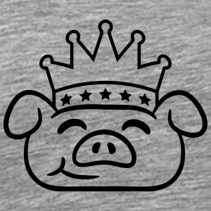 Piglet Crown face T-Shirts - Men's Premium T-Shirt