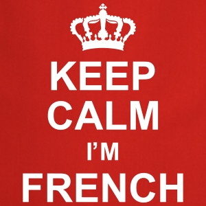 keep_calm_I'm_french_g1 Fartuchy - Fartuch kuchenny