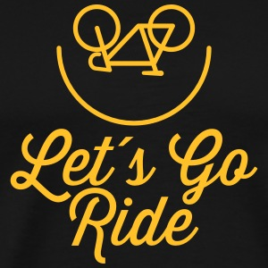 Let´s Go Ride T-shirts - Herre premium T-shirt
