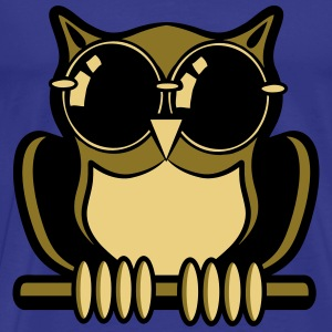 OWL bird forest sunglasses T-Shirts - Men's Premium T-Shirt