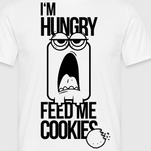 hungry, biscuits, feed me, I like biscuits, feed,  - Men's T-Shirt