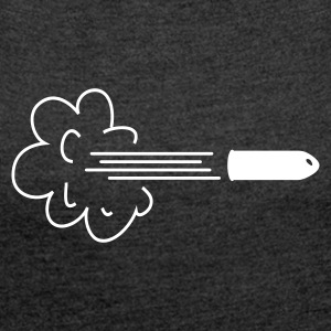 cloud with bullet / speeding bullet T-Shirts - Women's T-shirt with rolled up sleeves