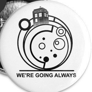 tardis - Buttons small 25 mm