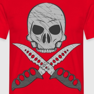 MMJ skull with crossed knives T-Shirts - Men's T-Shirt