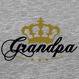 Crown King beste opa T-shirts - Mannen Premium T-shirt