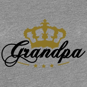 Crown King beste opa T-shirts - Vrouwen Premium T-shirt