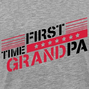 First Time Grandpa Logo T-Shirts - Men's Premium T-Shirt