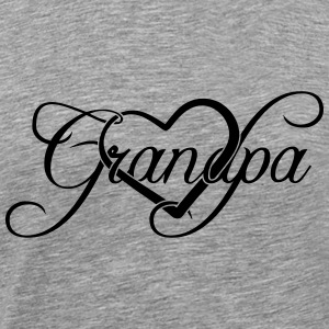 Best Grandpa Grandpa heart love T-Shirts - Men's Premium T-Shirt