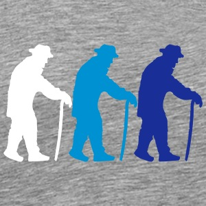 3 old grandads with cane walking stick T-Shirts - Men's Premium T-Shirt