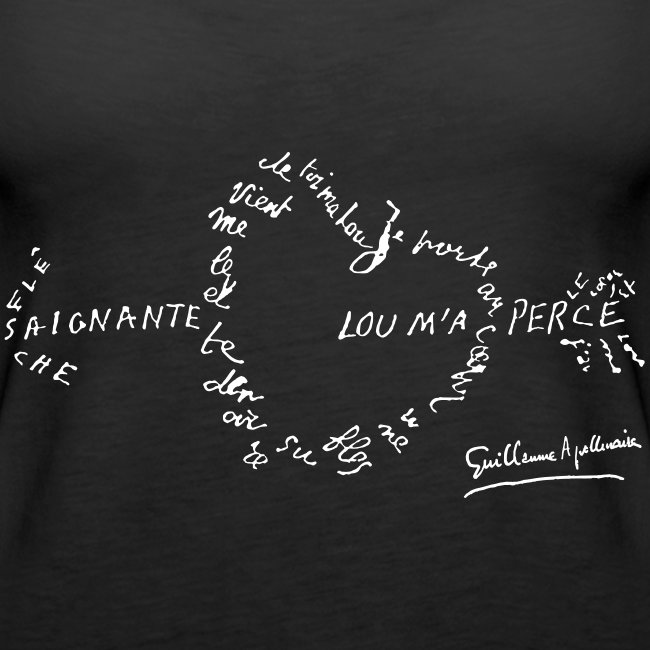 Débardeur Femme - Calligramme Flèche saignante (blanc)