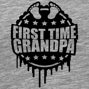 The first Grandpa times first time baby graffiti T-Shirts - Men's Premium T-Shirt