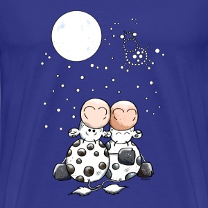 Romantic Cow Star T-Shirts - Men's Premium T-Shirt