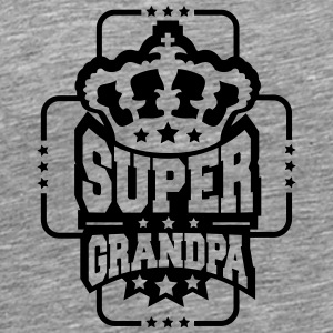 King King kroon Super opa ontwerp T-shirts - Mannen Premium T-shirt