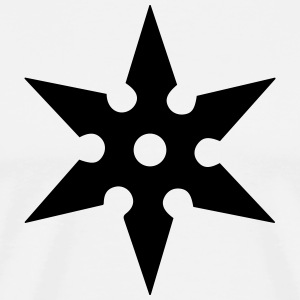 Shuriken Throwing Star, Ninja, Japan, Martial Arts T-shirts - Premium-T-shirt herr