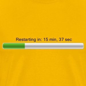 Restarting in ... - Loading bar T-shirts - Herre premium T-shirt