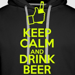 Keep calm and drink beer Bluzy - Bluza męska Premium z kapturem