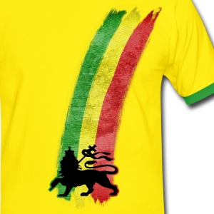 lion reggae Tee shirts - T-shirt contraste Homme