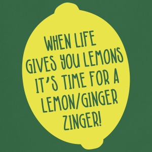 Juicing-When Life Gives You Lemons - Lemon Ginger  Aprons - Cooking Apron