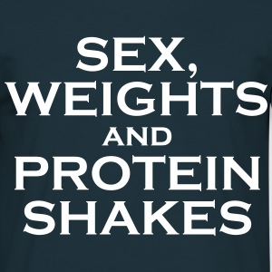 Sex, weights and protein shakes - Mannen T-shirt