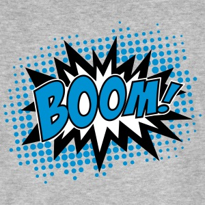 BOOM!, Comic Style Speech Bubble Bang, Kapow, Pow  - Männer Bio-T-Shirt