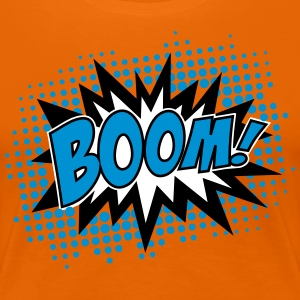 BOOM!, Comic Style Speech Bubble Bang, Kapow, Pow T-Shirts - Women's Premium T-Shirt