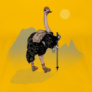 Ostrich Walker T-Shirts - Frauen Premium T-Shirt