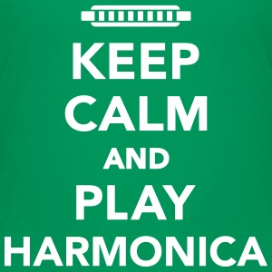 Keep calm and play Harmonica T-Shirts - Kinder Premium T-Shirt