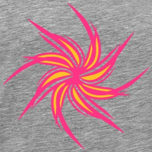 Flower pinwheel tribal tattoo T-Shirts - Men's Premium T-Shirt