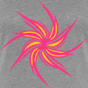 Flower pinwheel tribal tattoo T-Shirts - Women's Premium T-Shirt