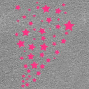 Many star night sky shower pink T-Shirts - Women's Premium T-Shirt