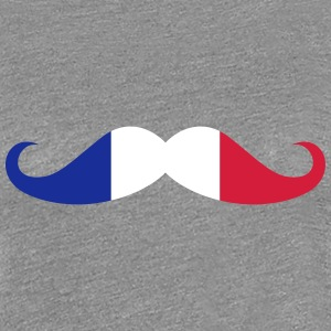 Moustache, French flag T-Shirts - Women's Premium T-Shirt
