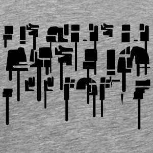 Abstracte graffiti T-shirts - Mannen Premium T-shirt
