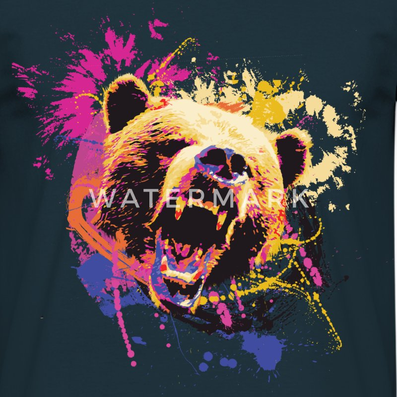 Bear Design T-Shirts - Men's T-Shirt