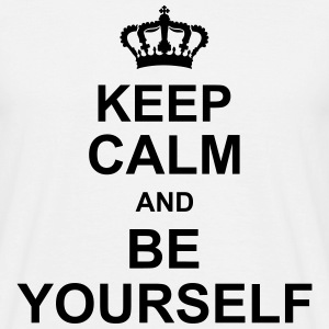 keep_calm_and_be_yourself_g1 T-skjorter - T-skjorte for menn