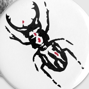 Stag Beetle  Buttons & badges - Buttons/Badges stor, 56 mm