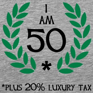 60 - 50 plus tax T-skjorter - Premium T-skjorte for menn