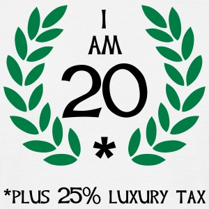 25 - 20 plus tax T-shirts - Herre-T-shirt