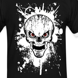 skull grunge style 02 Tee shirts - T-shirt contraste Homme