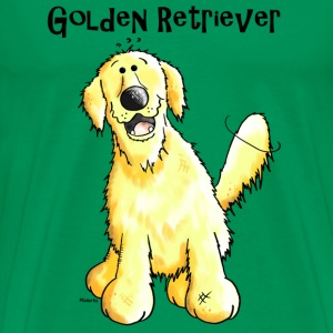 Glad Golden Retriever - Hund - Hunder T-skjorter - Premium T-skjorte for menn