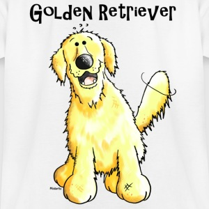 Happy Golden Retriever Dog Shirts - Teenage T-shirt
