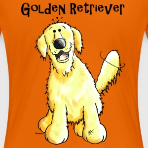 Glad Golden Retriever - Hund - Hunde T-shirts - Dame premium T-shirt