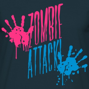 Zombie Horde attack blood handprint T-Shirts - Men's T-Shirt
