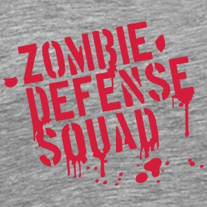 Zombie Defense Squad Blood Graffiti T-Shirts - Männer Premium T-Shirt