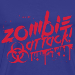 Zombie attack blood biohazard risk T-Shirts - Men's Premium T-Shirt