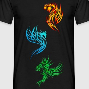 Tribal Dragons - Männer T-Shirt