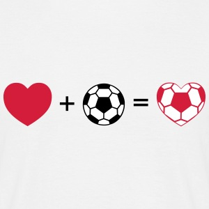Heart+ Football = Football Heart T-skjorter - T-skjorte for menn
