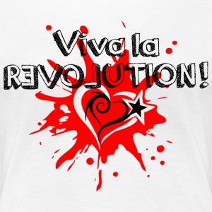 Viva la REVOLUTION, LOVE, Star, Heart, Splash,  T-Shirts - Women's Premium T-Shirt