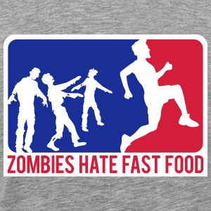 Zombies détestent Fast-Food Sport Logo Tee shirts - T-shirt Premium Homme