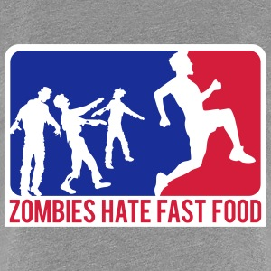 Zombies Hate Fast Food Sport Logo T-Shirts - Women's Premium T-Shirt